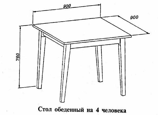 Схема мебели