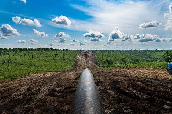 Газопровод в деревне
