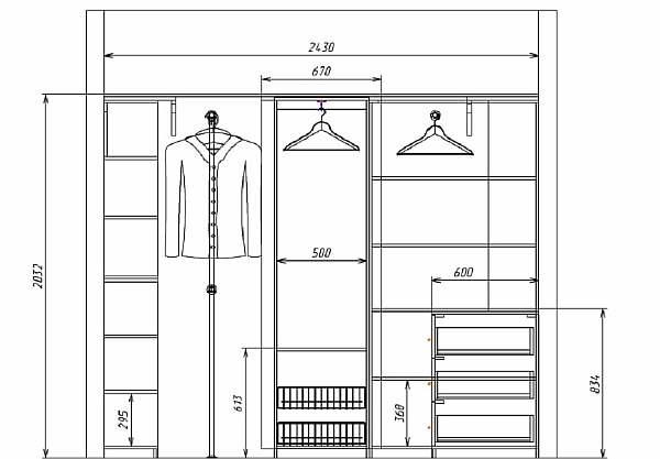 Вариант шкафа для спальни