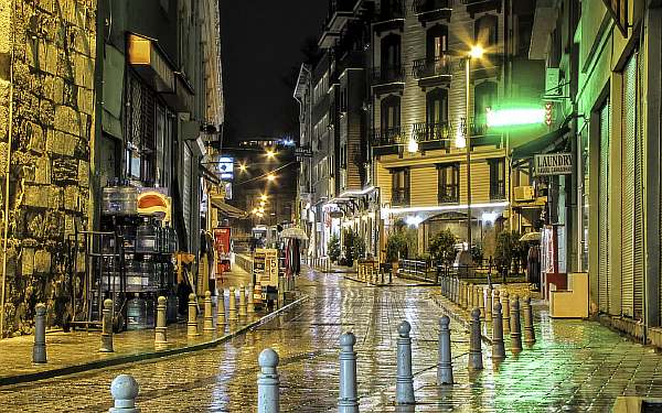 Вечером в городе