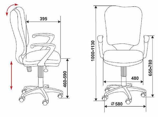 Высота кресла