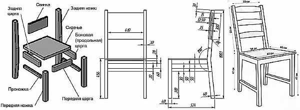 Схема стула