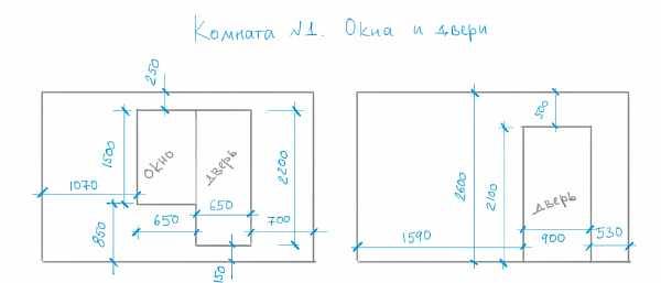 Схема с размерами