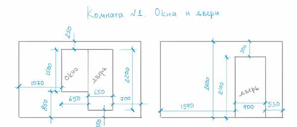 Схема с габаритами
