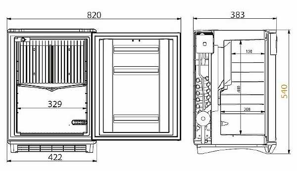 Размеры агрегата