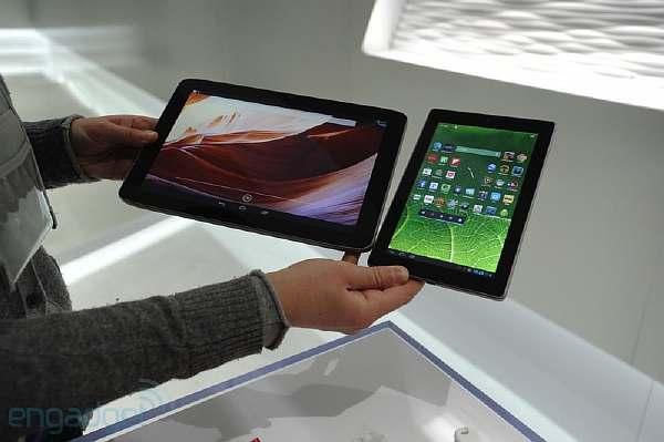 Размеры планшетов