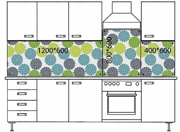 Высота шкафов кухни